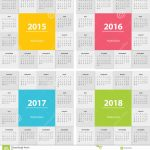 Calendar For Next Year Modern Flat Design Stock Vector Calendar Images For The Next 7 Years
