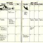 Calendar September 1963 August 1964 Mission Council Bsa Santa Barbara Courts Calendar