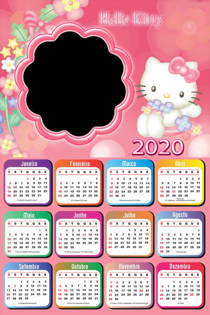 calendario 2020 hello kitty calendario 2019 sanrio printable calendar 2020