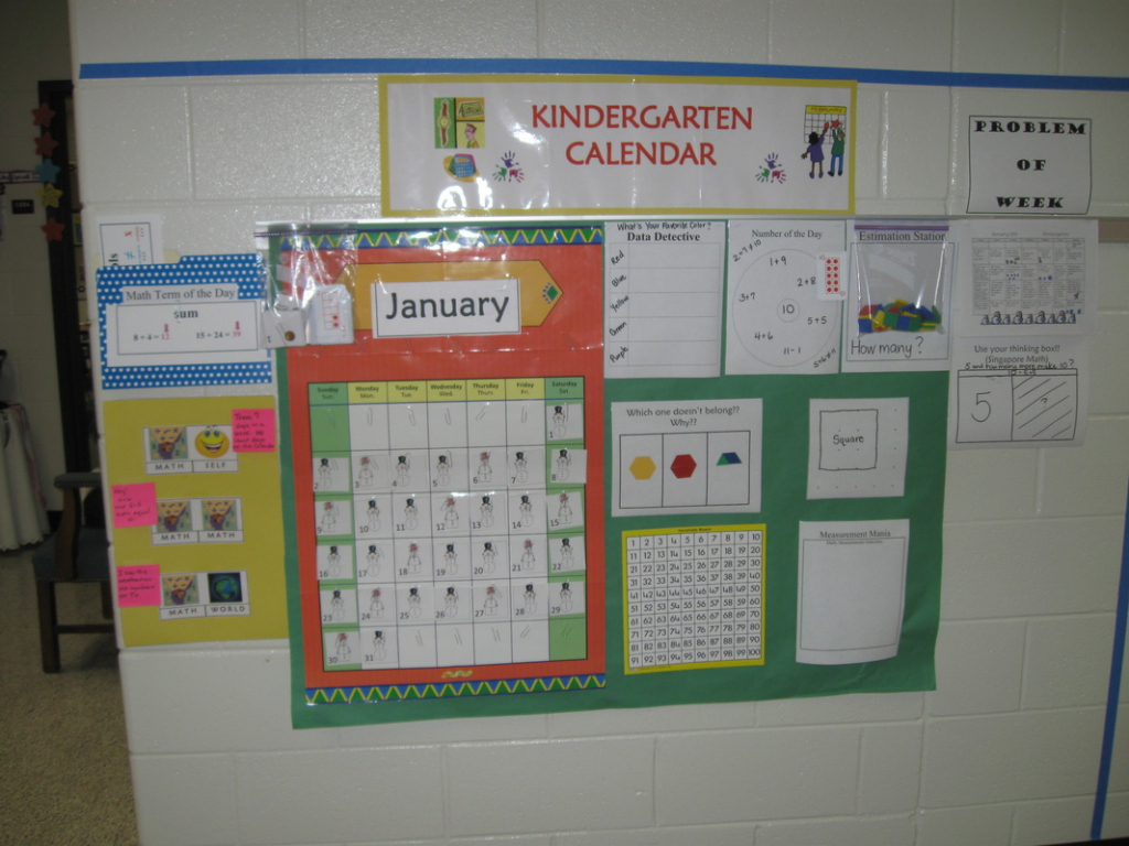 calendarnumber routines supplements k 5 mrs kathy everyday counts calendar kits