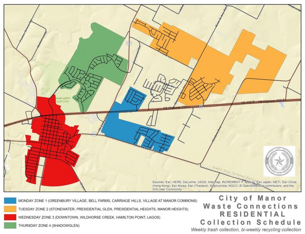 city of manor tx republic services recycling schedule calendar