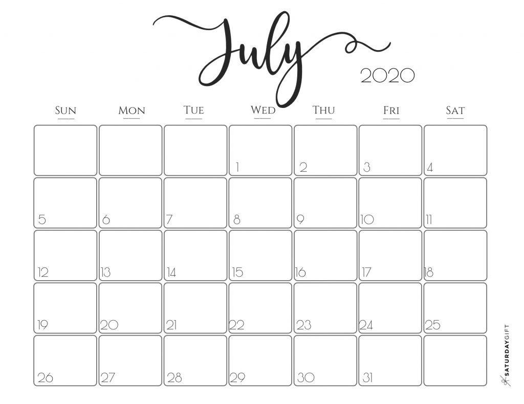 elegant 2020 calendar free printables calendar free free week at a glace 2020 july calendar