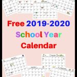 Free 2019 2020 Calendar Printable This Free Calendar Blank 2020 Printable Calendar For Homeschool
