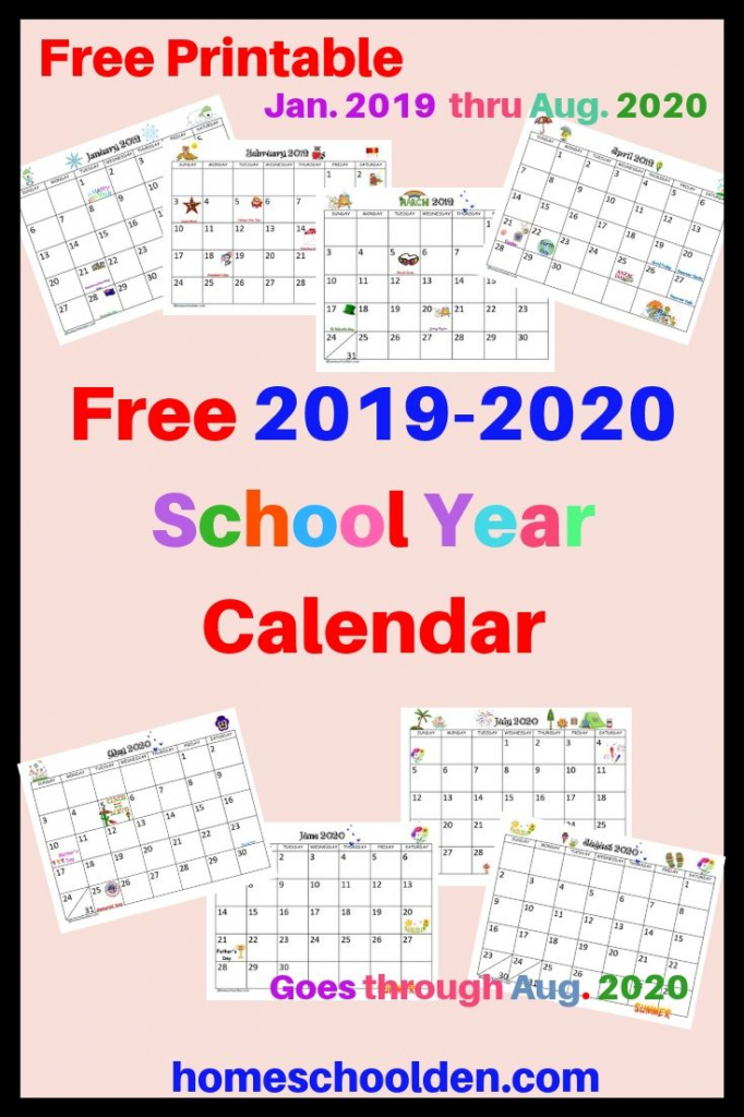 free 2019 2020 calendar printable this free calendar blank 2020 printable calendar for homeschool