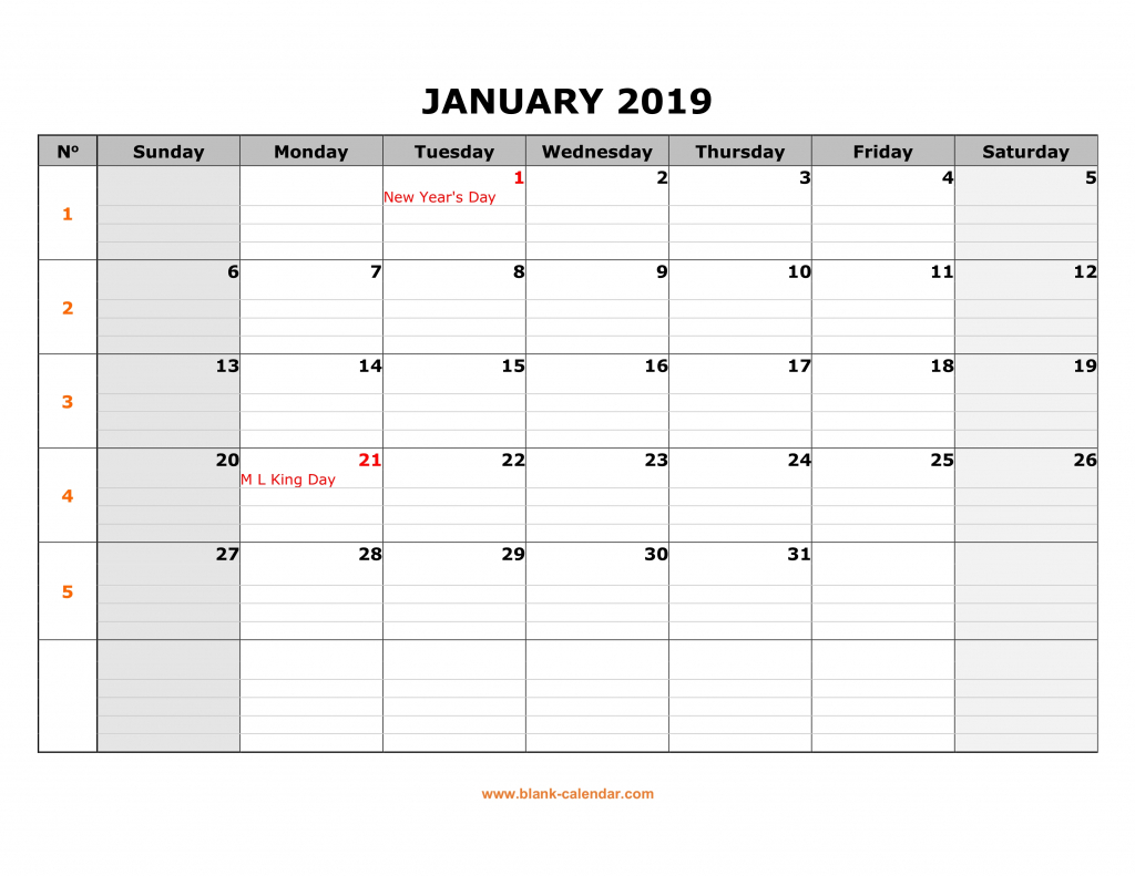 free download printable calendar 2019 large box grid space calendars with lines