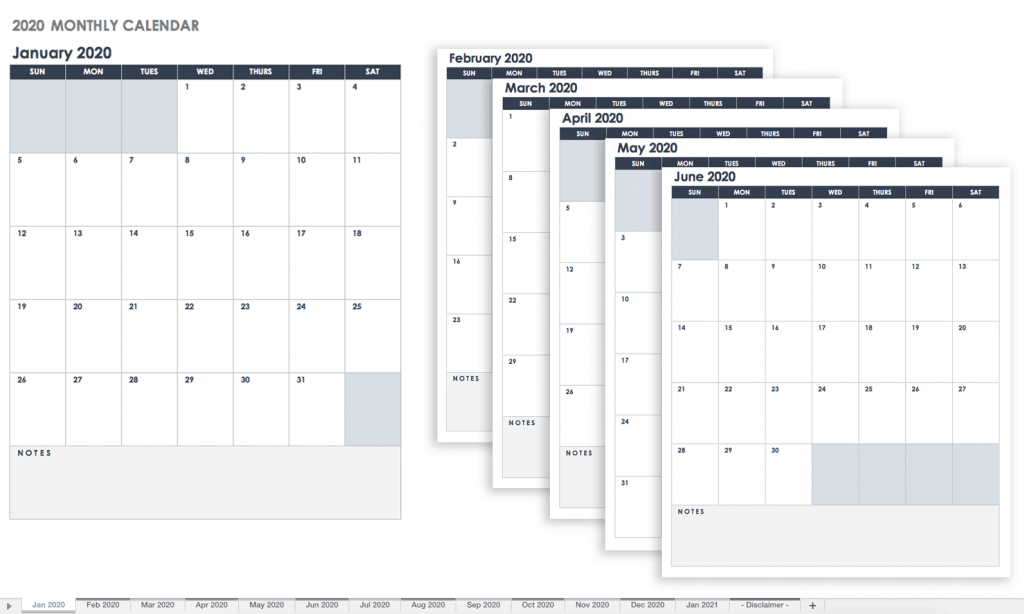 free google calendar templates smartsheet calendar spreadsheet 2020 with six periods per day