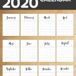 Free Printable 2020 Calendar Template Pages 8 5 X 11 June 2020 Prinatable Calendar
