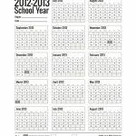 Free Printable School Calendar For 2019 2020 Education Blank 2020 Printable Calendar For Homeschool