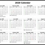 Free Yearly 2020 Printable Calendar Templates Pdf Word Create My Own Calendar Free Printable 2020