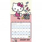 Hello Kitty Mini Wall Calendar 2019 Calendar July 1 Sanrio Printable Calendar 2020