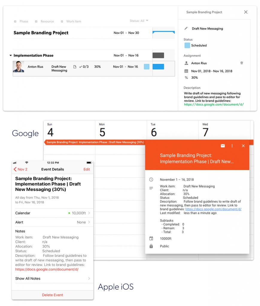 how to sync your google outlook or ios calendar 10000ft 10000 my calendar