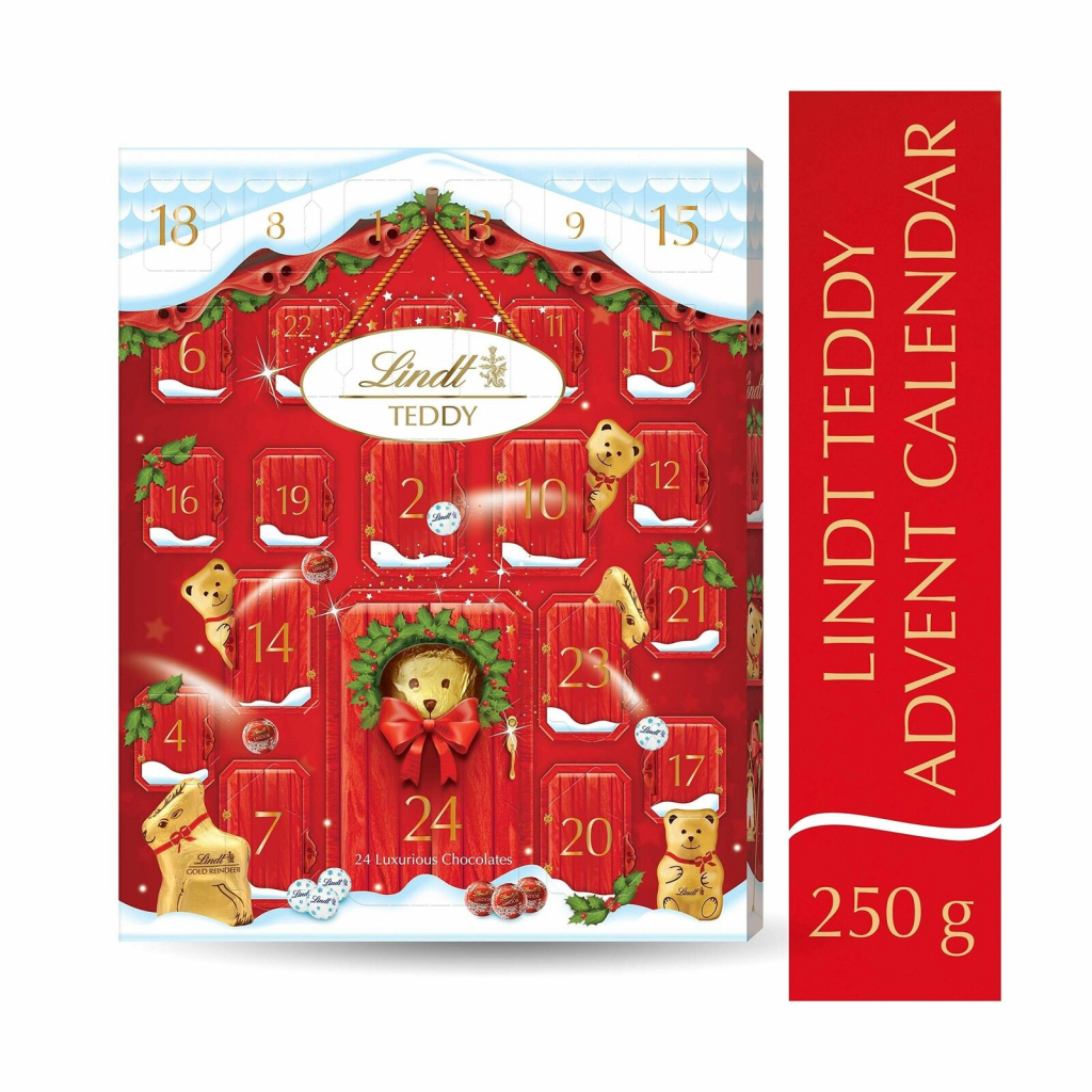 lindt bear advent calendar 250g christmas 2019 lindt advent calendar