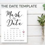 Mark The Date Template Download Wedding Save The Date Mark Your Calendar Template