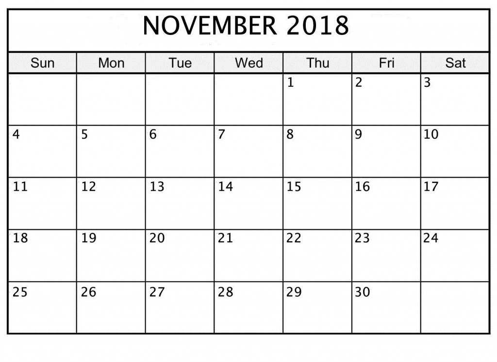 November 2018 Printable Calendar Date And Time October Time Date Calendar Printable