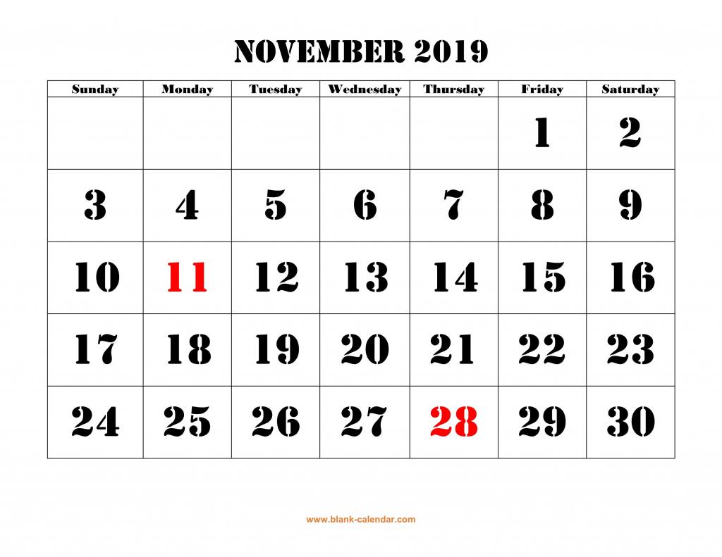 november 2019 calendar template nov november november2019 printable countdown calendar to 12th july