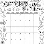 October 2019 Coloring Calendar Kids Calendar October Kids Activity Calendar Template