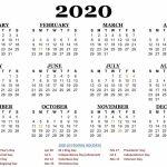 One Page 2020 Printable Us Calendar December Calendar 5 Year Us Calendar