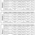 P90x Calendar Printable Start Date 429 Courage21s P90x Workout Schedule Calendar Printable