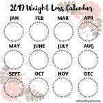Pin On Bullet Journal 2020 Weight Loss Calendar Template