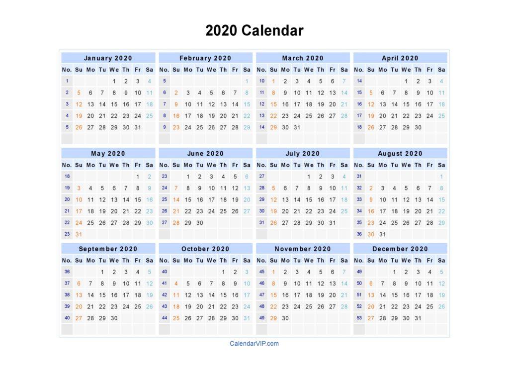 printable calendar 2020 16 togowpartco create your own calendar 2020 free