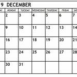 Printable December 2019 Calendar Waterproof Paper Pritnable Calnder Waterproff Paer 1