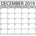 Printable December 2019 Calendar Waterproof Paper Pritnable Calnder Waterproff Paer