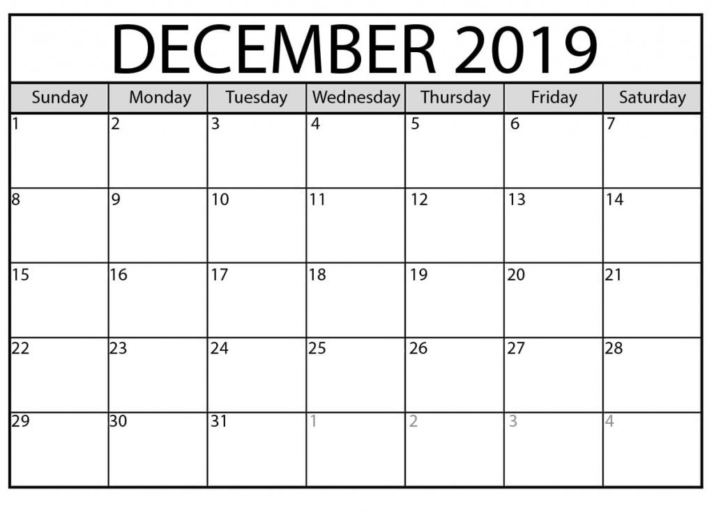 printable december 2019 calendar waterproof paper pritnable calnder waterproff paer