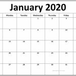 Printable January 2020 Calendar Free Infocalendars Create Your Own Calendar 2020 Free