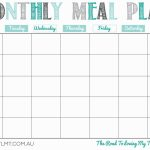 Printable Monthly Meal Planner Monthly Meal Planner Meal Printable Diet Calendars