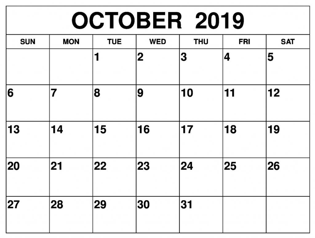 printable october 2019 calendar editable templates 2020 free type in calendar template