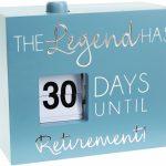 Retirement 45 Countdown Calendar Retirement Calendar Countdown