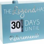 Retirement 45 Countdown Calendar Retirement Calender