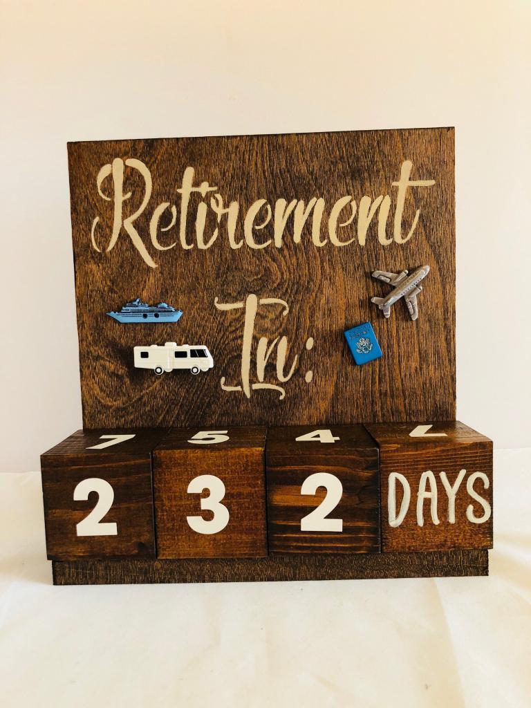 retirement countdown calendar with blocks countdown retirement calendar countdown