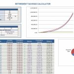 Retirement Savings Calculator Retirement Calculator Retirement Calendar Templates