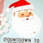 Santa Christmas Countdown Printable Happiness Is Homemade Printable Xmas Countdown Calendar