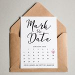 Save The Date Cards For Weddings Personalized Wedding Mark Your Calendar Template