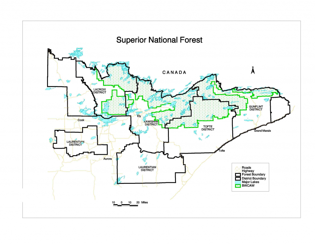 superior national forest about the area district and superior