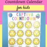 Vacation Countdown Calendar For Kids Kids Calendar Kids Vacation Calendar