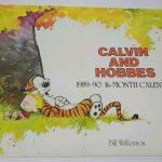 Vintage Calvin And Hobbes 1989 1990 16 Month Calendar Rare Htf Bill Waterson Calvin Amd Hobbes Calemdar