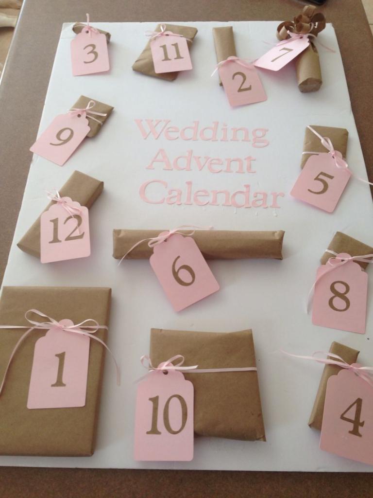 wedding advent calendar cute little presents for the 12 wedding countdown calendar