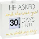 Wedding Day 45 Countdown Calendar Wedding Countdown Calendar
