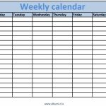 Weekly Calendars With Times Printable Calendars Kalendar Printable Calander With Times