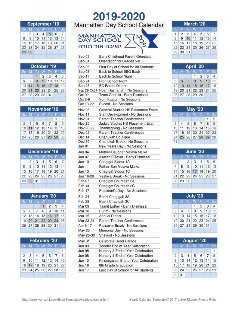 yearly calendar at a glance suny old westbury calendar 2020