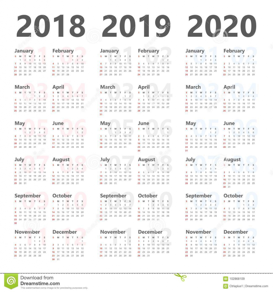 yearly wall calendar planner for next 3 years 2018 to 2020 calendar images for the next 7 years