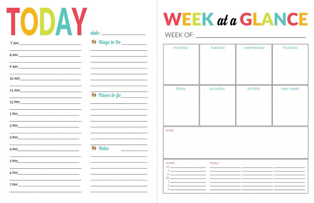 2016 17 school year planner daily calendar template daily organizer calendars to print