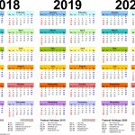 2018 2020 Three Year Calendar Free Printable Excel Templates Holiday Calendar Next Five Years