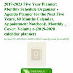 2019 2023 Five Year Planner Monthly Schedule Organizer Five Year Planner Calendar 1