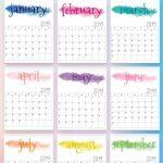2019 Calendar 2019 Printable Calendars 2019 Printables Organizer Calendars To Print