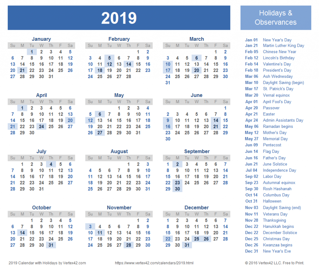2019 calendar templates and images holiday calendar next five years