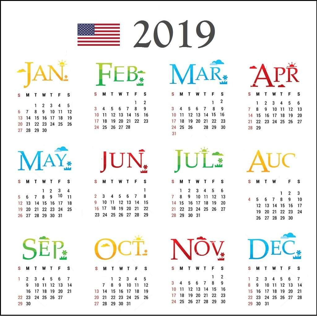 2019 usa calendar with holidays calendar calendar2019 holiday calendar next five years